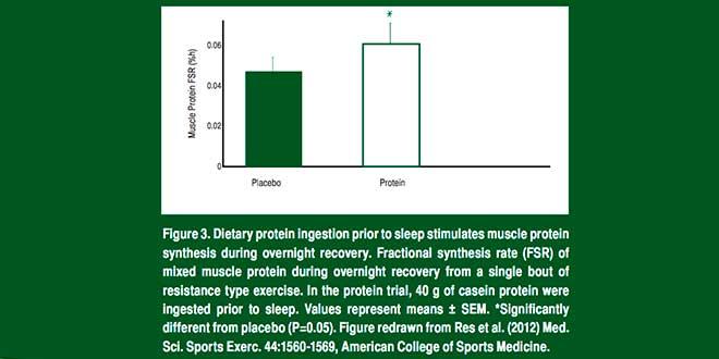 Consommation de Protéine avant se coucher
