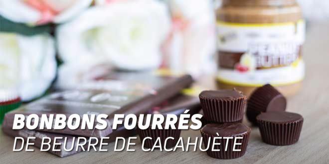 Bonbons de Chocolat fourrés au Beurre de Cacahuète