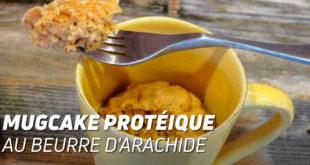 Mugcake protéique au beurre d'arachide
