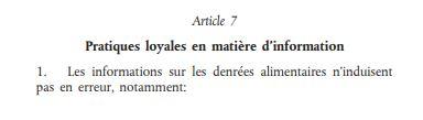 Règlement article 7