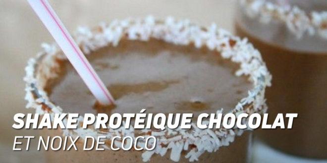 Shake Protéique au Chocolat et Noix de Coco