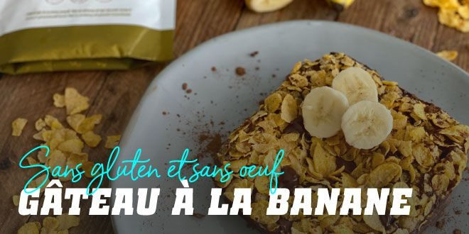 Gâteau à la banane sans gluten sans oeufs