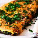 Omelette au Chou Kale et au Bœuf