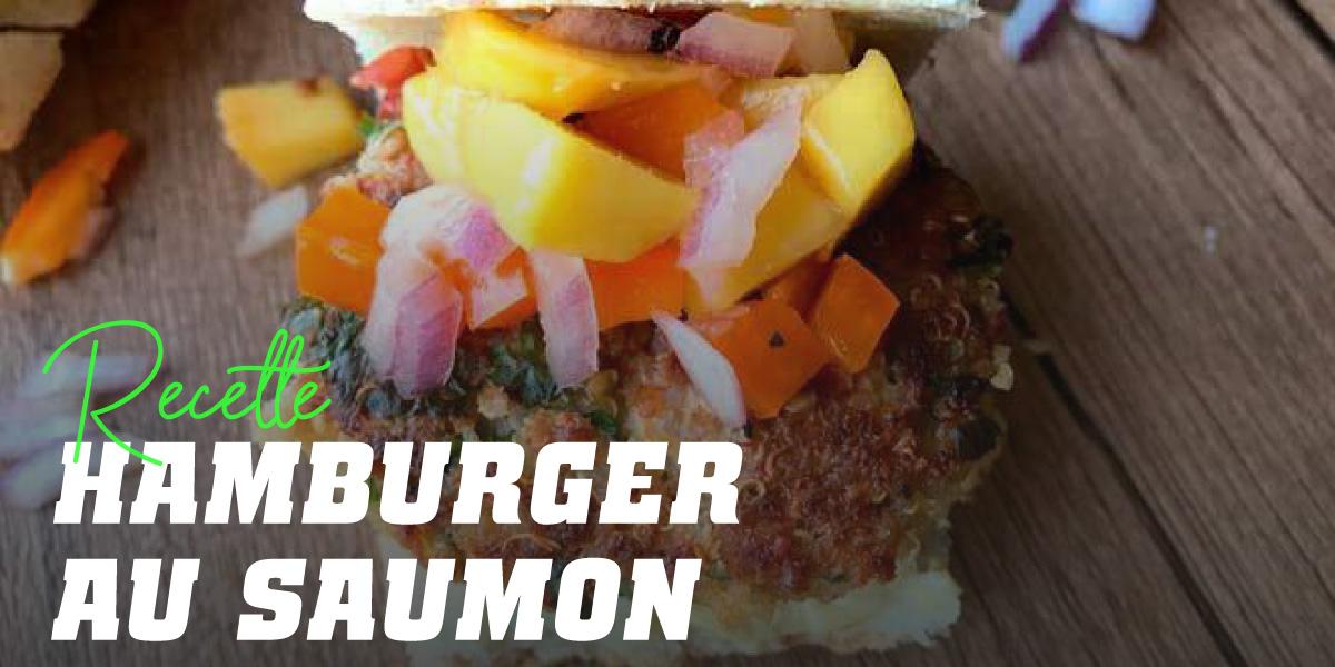 Burger au Saumon et à la Mangue