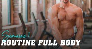 Routine full body: semaine 1