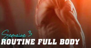 Routine full body: semaine 3