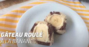 Gâteau roulé à la banane