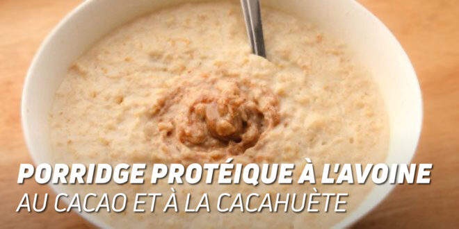 Porridge Protéique à l'Avoine au Cacao et à la Cacahuète