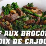 Recette bœuf aux brocolis et noix de cajou