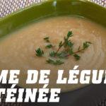 Recette crème de légumes protéinée