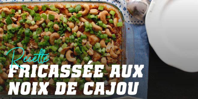 Cassolette de noix de cajou, poulet et quinoa