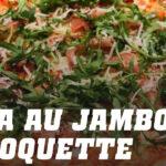 Recette pizza au jambon et roquette