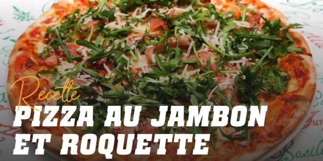 Pizza au Jambon Serrano, Mozzarella et Roquette