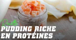Recette pudding riche en protéines