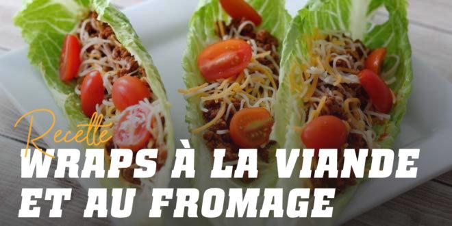 Wraps Farcis à la Viande et au Fromage