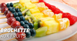 Brochette aux fruits