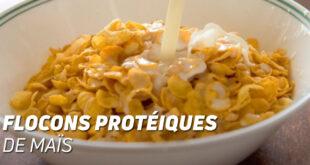 Flocons proteiques de maïs