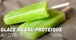 Glace à l'Eau Protéique au Citron