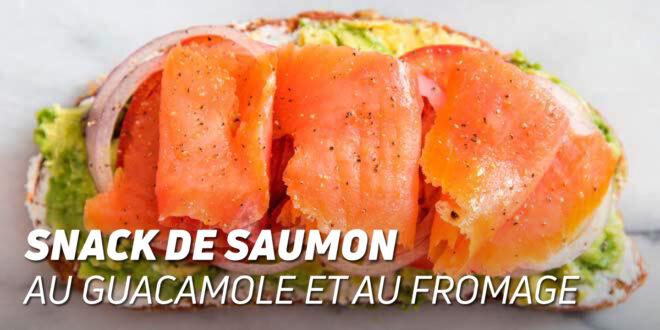 Snack de Saumon au Guacamole et au Fromage
