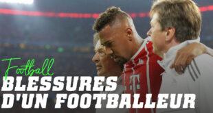 Blessures d'un footballeur