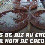 Coupes de Riz au Chocolat et à la Noix de Coco