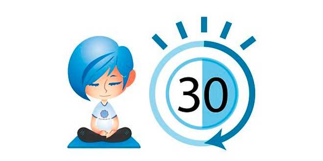 30 minutes par jour de méditation
