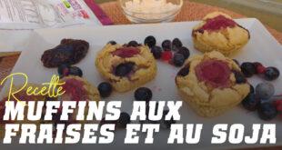 Muffins aux fraises et soja