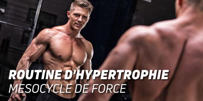 Routine d'Hypertrophie: Mésocycle de Force