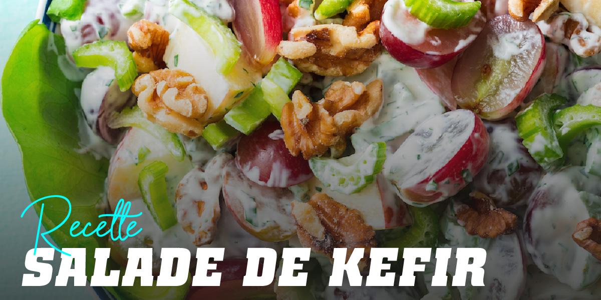 Salade de Tofu, Pommes et Kéfir