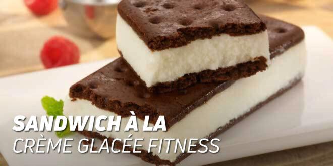 Sandwich à la Crème Glacée Fitness avec Farine à l'Avoine et à l'Huile de Noix de Coco