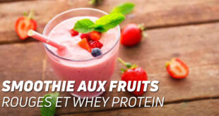 Smoothies aux Fruits Rouges et Whey Protein