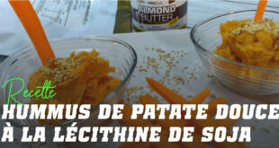 Houmous de Patate Douce à la Lécithine de Soja
