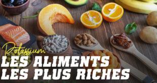 Principaux aliments contenant du potassium