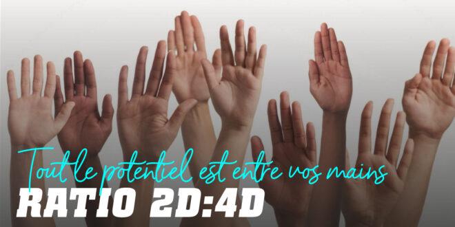 Ratio Numérique 2D:4D: Que nous disent Nos Mains ?