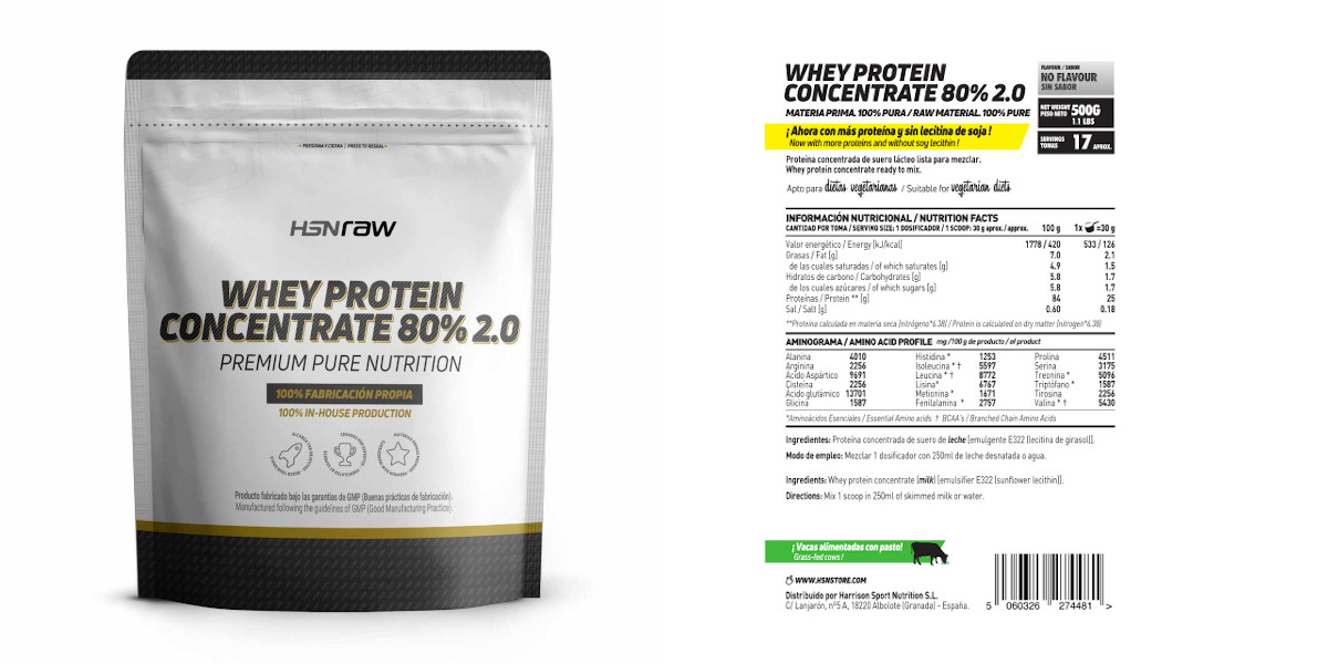Whey Protein Concentrate 80% 2.0 HSNraw