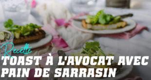 Toasts d'Avocat Brouillé et Pain de Sarrasin