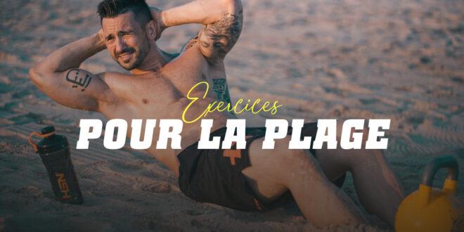 Exercices pour s'entraîner sur la plage pendant les vacances