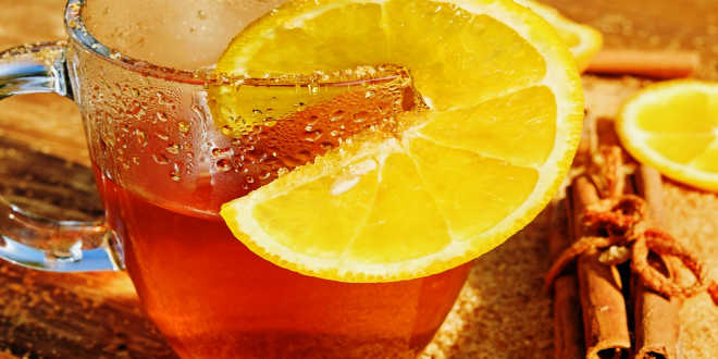 Cinnamon tea with lemon