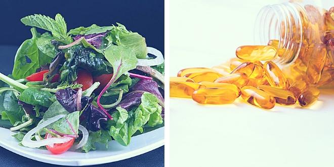 Salad or capsules