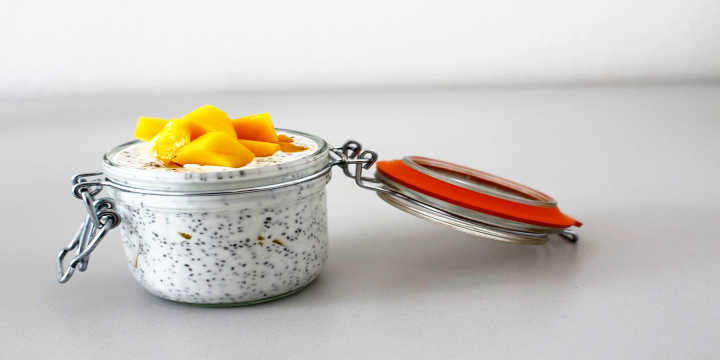Breakfast with chia seeds