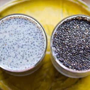 Chia seeds bowls