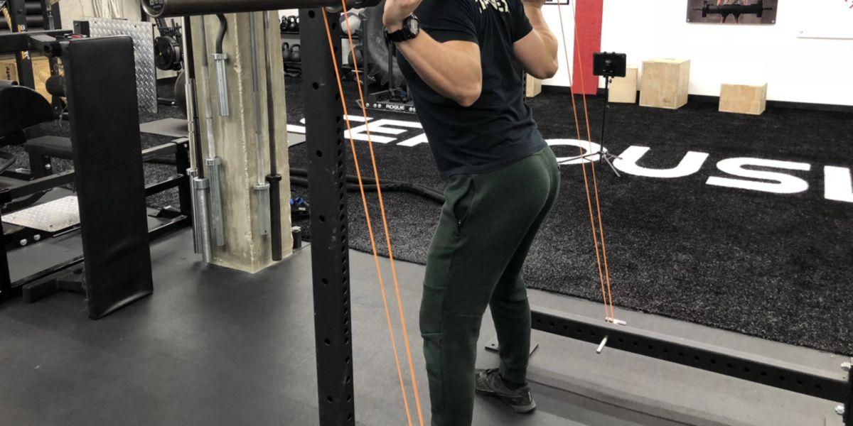 Squats elastic resistance bands