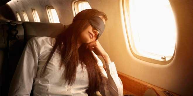 Taking a nap on a plane