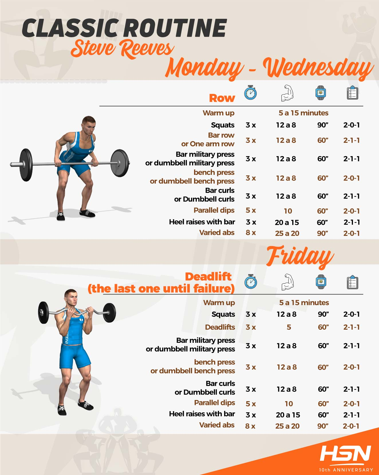 Classic routine Steve Reeves