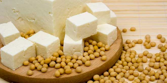 Tofu dices and soy