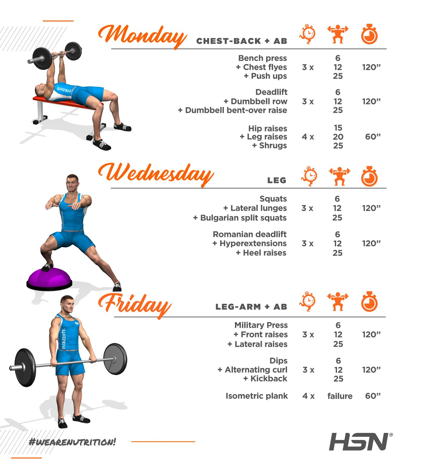 Infographic home workout with dumbbells month 6