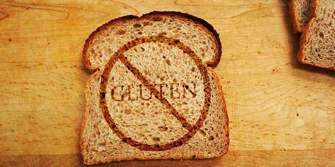 Gluten Forbidden Sign on a Toast