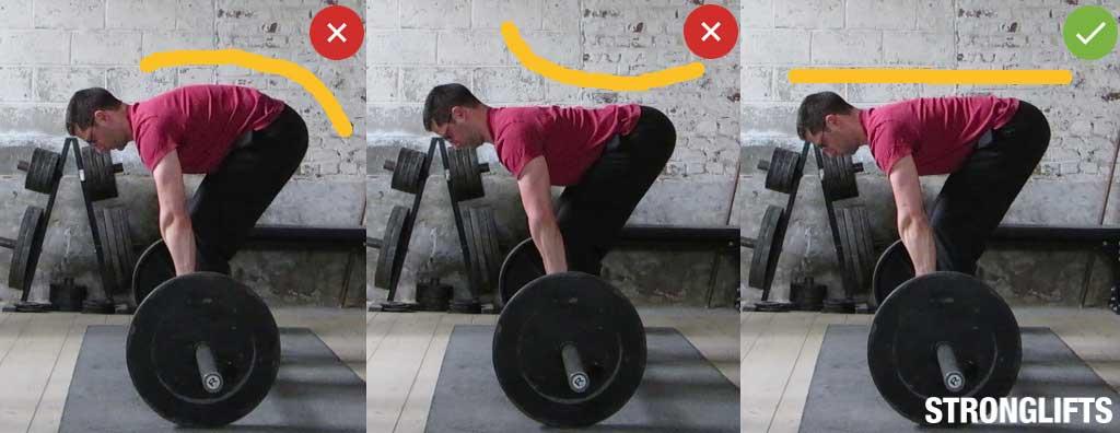 Torso posture with bar 90º