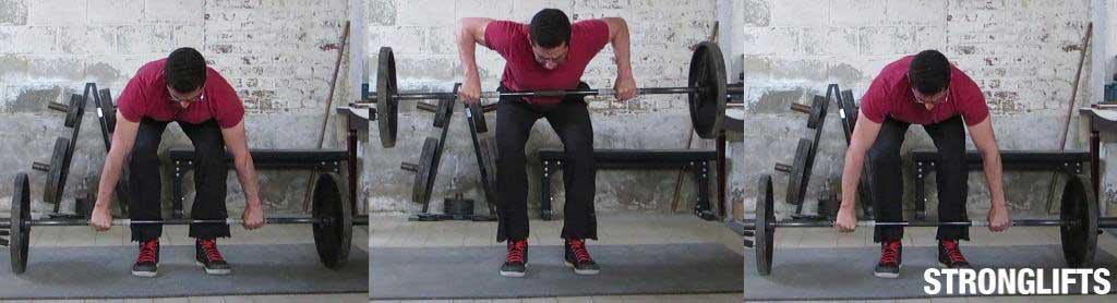 Width of grip rowing bar