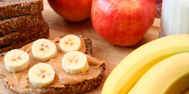 Peanut Butter Toasts with Banana